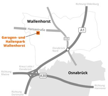 Anfahrt Garagen-und Hallenpark Wallenhorst